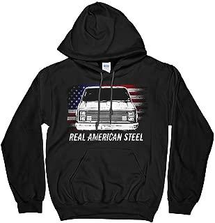 C10 Square Body Chevy with American Flag Hoodie Sweatshirt