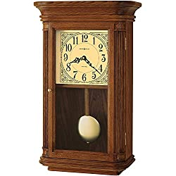 Howard Miller Westbrook Wall Clock 625-281 – Oak Yorkshire Home Decor with Wood Pendulum, Brass Bob with Quartz, Dual-Chime Movement