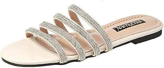 ALLAK Shoes Women Flip Flops Flat Summer Basic Sandals Thongs Toe Ring Joan