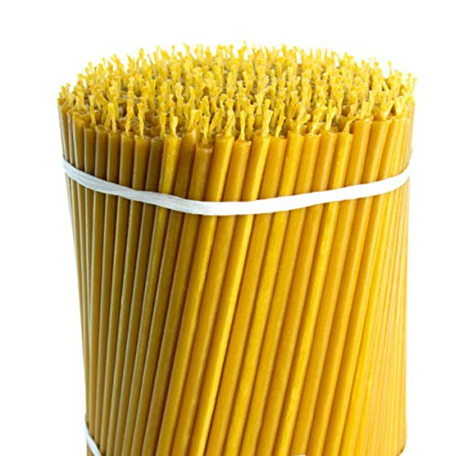 HONEYBEE Pack of 750 Taper Beeswax Candles for Christmas Natural Beeswax Handmade Candles Creativity Beeswax Candle for a Romantic Dinner or Special Occasions (750, 6 1/4 inches)