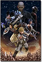 Lawrence Painting Kingdom Hearts Game Art Canvas Poster Print Home Wall Decoration Kairi Sora 5
