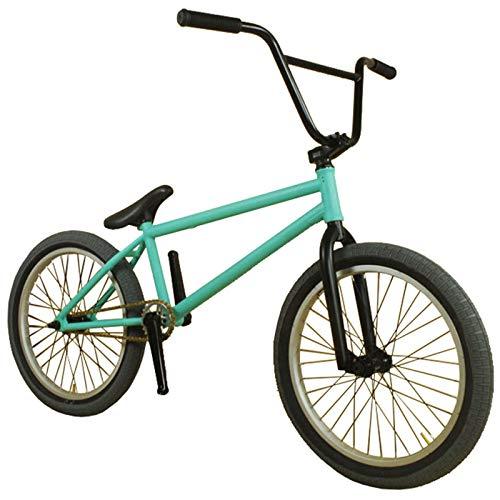 GASLIKE Bicicleta BMX de 20 Pulgadas para niños, jóvenes y Jinetes Adultos avanzados, Cuadro de Acero CR-Om 4130, Horquillas y manillares, BMX Estilo Libre