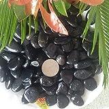 Z-DJJ Piedras Decorativas, 2.5Kg Black Rocks Guijarros para Plantas Piedras Naturales Decorativas pulidas para jardineras Suculentas River Rocks Acuario Grava (Varios tamaños), 5.5lb / 88.16oz,1~3cm