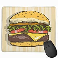 ハンバーガー マウスパッド ノンスリップ 防水 高級感 習慣 パターン印刷 ゲーミング ホビー 事務 おしゃれ 学習