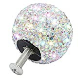 4Pcs Bling Drawer Knob,Handmade 1.18 in Diameter Round Pull Handle,Crystal Rhinestone Diamond Decoration Cabinet Drawer Dresser Cupboard Knobs with Screws for Home Office Kitchen Bathroom(Multicolor)