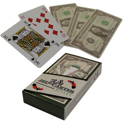 New York - Jeu 54 Cartes Fun Aspect Billet 100 Dollars idéal Poker Belote Rami
