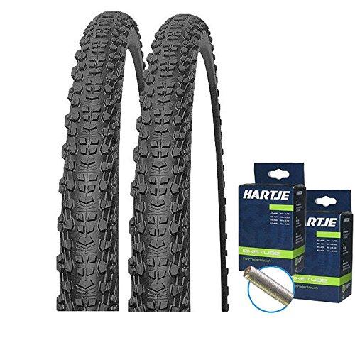 Mitas Set: 2 x Scylla Fahrrad MTB Reifen 24x1.90/50-507 + SCHLÄUCHE Autoventil