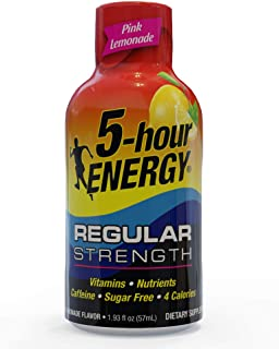 5-hour ENERGY, Regular Strength Pink Lemonade, 1.93 ounce, 24 count