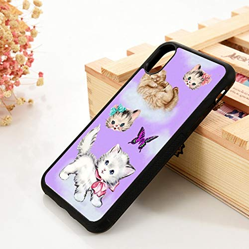 WGOUT para iPhone 5 5S 6 6S Funda de Gel de sílice de TPU Suave   para iPhone   7 Plus X XS 11 Pro MAX XR Cat Play Funda para teléfono Mariposa, para iPhone 6