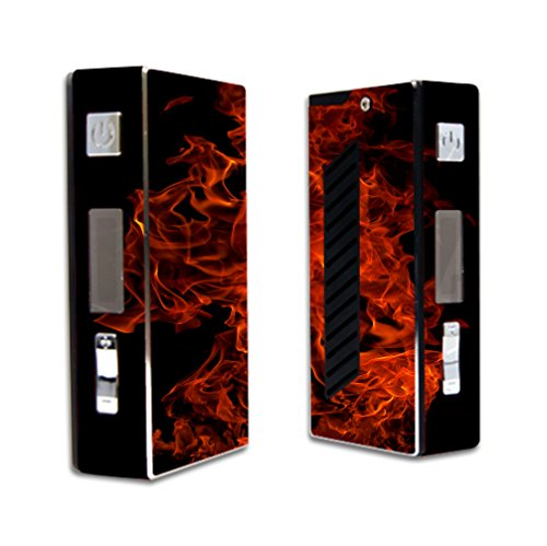 Decal Sticker Skin WRAP Decal Sticker Red Hot Flames NOT A Vape for Sigelei 50W VR2