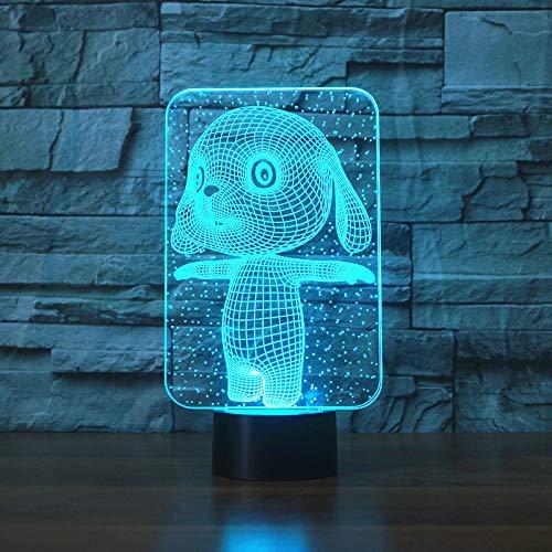 Control Táctil Y Control Remoto Led 3D 16 Colores Lámpara De Mesa De Conejo Encantadora Luces De La Noche De La Novedad Luces De La Noche De La Estrella De La Muerte