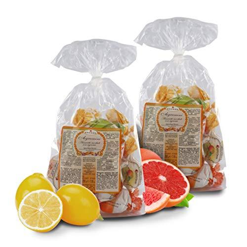 Amaretti Agrumini - Galletas de Almendra Aromatizadas con Cítricos - 200 Gramos (Paquete de 2 Piezas)