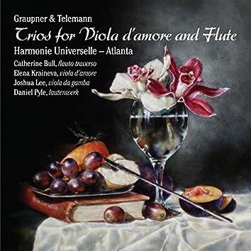 Graupner & Telemann: Trios for Viola d'amore and Flute