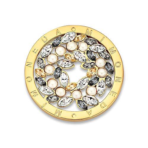Mi Moneda - Mi moneda rosa champange swarovski medida m