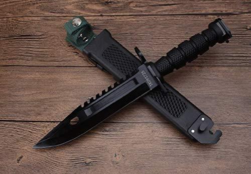 U.S. Military Knives U.S. Army M-9 Typ-3B - Black Militär M9 Multipurpose Bajonett mit extrem Sägerücken - taktisches Kampfmesser - Jagdmesser