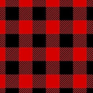 Black & Red Buffalo Plaid Flannel Fabric by The Yard