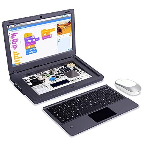 ELECROW Raspberry Pi Laptop, Crowpi2 Raspberry Pi 4 Programming Learning Kit with Sensors - Basic Kit - Gray