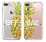 Shark Best Friends/Girlfriend & Boyfriend Pineapple Summer Style Matching Couple Cases for(BAE: iPhone X)