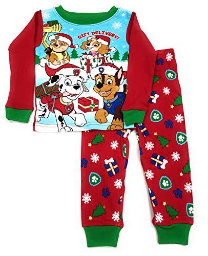 Paw Patrol Little Boys Toddler Christmas Pajama Set (2T)