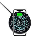 Nillkin Chargeur sans fil Qi 15 W avec lumières LED multicolores pour iPhone XS/XS Max/XR/X/8...