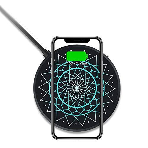 Nillkin Wireless Charger, 15W Qi Ladestation Kabelloses Ladegerät Mit Bunte LED-Leuchten für iPhone XS/XS Max/XR/X/8 Huawei P30 Pro Xiaomi Mi 9 Samsung Galaxy S10 S10+ S10e S9+ S8 Plus