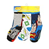 Justice League Characters and Symbols 6-Pair Pack of Toddler Socks Toddler 4T/5T