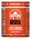 Muscle Beach Nutrition Pre-Train Powder - Pre Workouts Nitrate Supplement | Boosts Energy, Enhance Muscle Endurance - PreWorkout Supplements for Men & Women - Tigers Blood 25 Servings