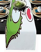 テーブルランナー 字母 ペット 猫 ラブハット テーブルクロス お食事マット プレースマット おしゃれ インテリア 食卓飾り 滑り止め 欧風 無地 おもてなし パーティー ホームデコレーション 33x178cm