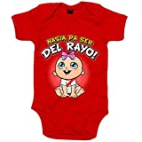 Body bebé nacida para ser del Rayo para aficionada al fútbol de Vallecas - Rojo, Talla única 12 meses