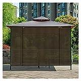 XJJUN Sonnenschutzrollos, Atmungsaktives Filterlicht Sichtschutz, Außenrollo, Für Gartenpergola-Pavillon (Color : Brown, Size : 1.5x2m)