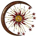 Deco 79 Metal Sun Moon Wall Décor from Deco 79