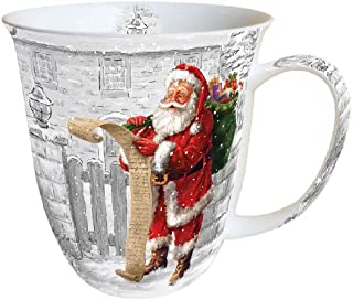 La magie de Noël Set de 4 Fine China MUGS-Coffret Cadeau