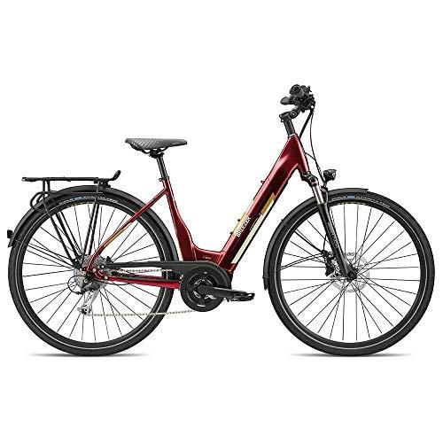 breezer E Bike Damen 700c Stadtrad Elektrofahrrad 28 Zoll Powertrip Evo 1.5+ LS (dunkelrot, 55 cm)