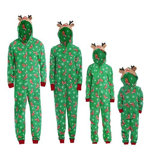 Toamen Interi Famiglia Natale Natalizi Adulti Pigiama Intero Natalizio Tuta Donna Maniche Lunghe Bambini Bambina Bambino Uomo Neonato Ragazza Ragazzo Invernale Costume di Natale Sleepwear