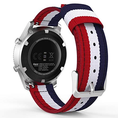 Yayuu Compatible avec Le Bracelet de Samsung Gear S3 Bracelet de Remplacement en Nylon Tissé de 22mm pour Samsung Gear S3 Frontier/S3 Classic/Galaxy Watch 46mm/Huawei Watch GT 46mm/Ticwatch Pro