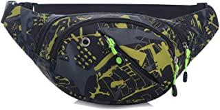 Waist Pack Bag, Chest Shoulder Fanny Pack Pouch with 4-Zipper Pockets, Adjustable Belt for Workout Vacation Hiking Running, for iPhone Xs Max XR X 8 7 Plus 6S Samsung Galaxy S10 S9 Plus Note 9