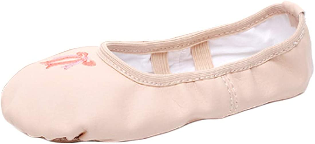 Huicai Ladies and Kids Embroidered Breathable Ankle-Wrap Casual Ballet Shoes