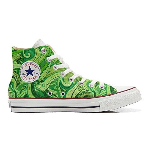 Scarpe Donna Sneakers - Original USA - Hi Canvas, Scarpe Personalizzate (Prodotto Artigianali) Abstract Size 38 EU
