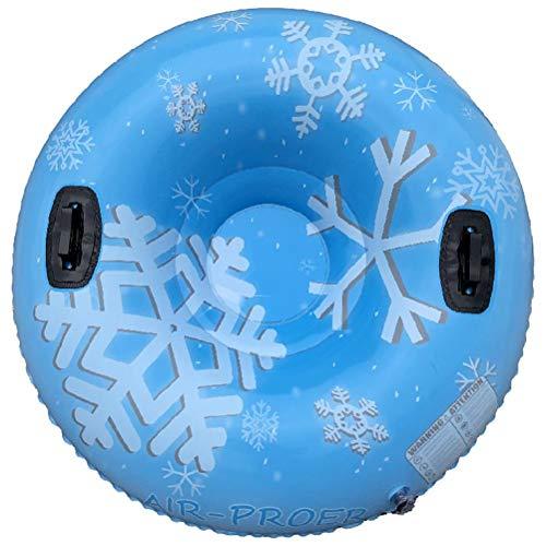 NNGT Aufblasbarer Schlitten, Schneeschlauch, aufblasbarer Schlitten PVC Aufblasbarer Schneeschlauch mit Griffen Frostschutzschlitten für Kinder und Erwachsene im Freien