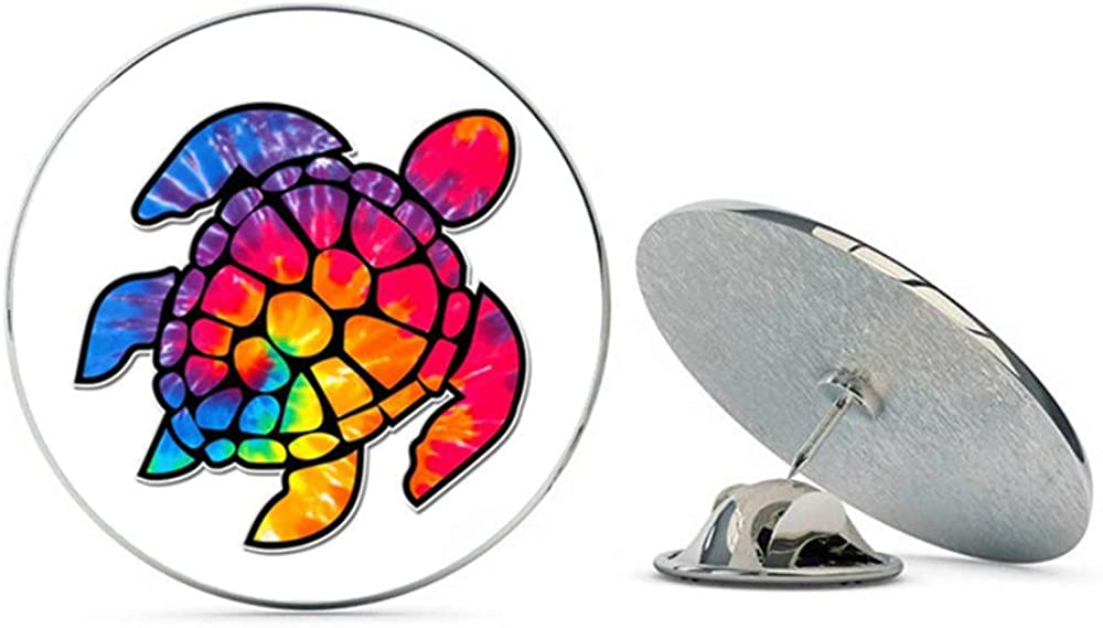 NYC Jewelers Tie Dye Sea Turtle Metal 0.75