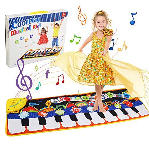 Ballery Piano Matte, Kinder Spielzeug Musik Matte Keyboard Matte Klaviermatte Tanzmatte Musikmatten Baby für Kleinkind Jungen Mädchen, 5 Modi & 8 Spielzeug Touch Musical Teppich(110 * 36cm)