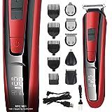 GERCAR RFC-1611 kabelloser Multi-Grooming-Set Haarschneider 10-in-1 - Bartpflege für Herren,...
