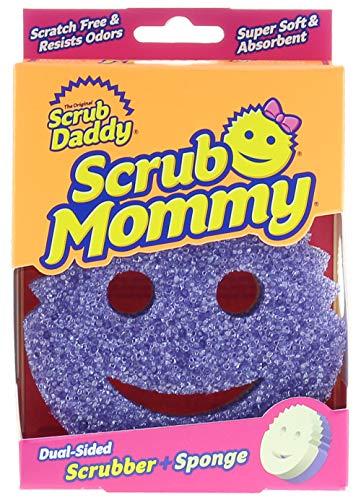 Scrub Daddy 607841609685 Dual Texture Changing Scrubber Kitchen Super Absorbent Sponge Side-Scrub Mommy (Purple)