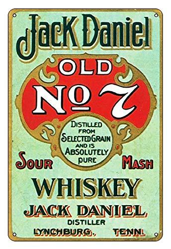 Whisky Vintage Shabby Chic Foto in Stile retrò Targa in Metallo Targa in Metallo Poster Regalo Bar Targa retrò Design Decorazione da Parete Beer Club Dimensioni 20cm*30cm (8inch * 12inch)