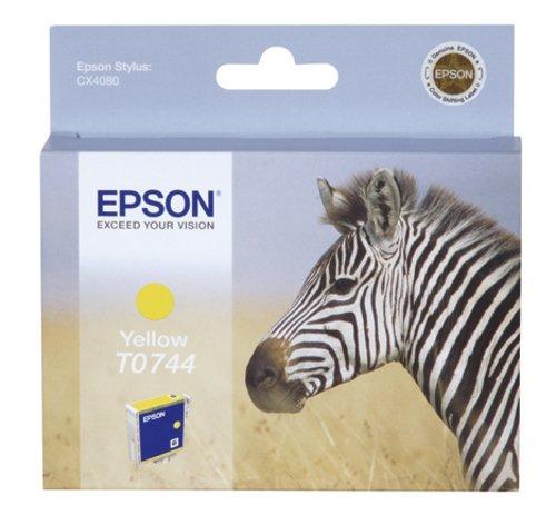 Epson T0744 Tintenpatrone Zebra, Singlepack gelb