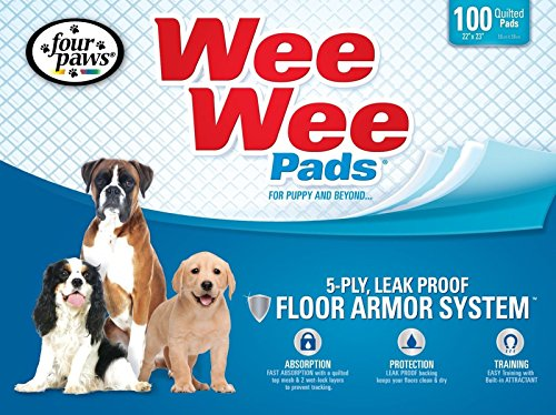 four paws wee wee puppy housebreaking pads