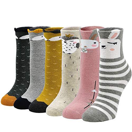 ZFSOCK Dicke Kinder Socken aus Baumwolle Bunte Thermo Winter Socken mit Frotteefutter Warme Lustige...