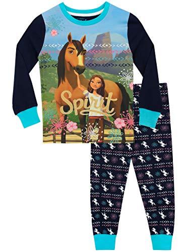 DreamWorks Mädchen Spirit Riding Free Schlafanzug Slim Fit Blau 116