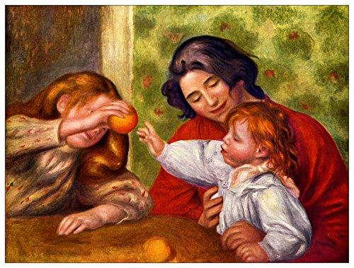 ArtPlaza Renoir Pierre-Auguste-Gabrielle Jean en een meisje decoratief paneel, hout, multi-kleur, 80 x 1,8 x 60 cm