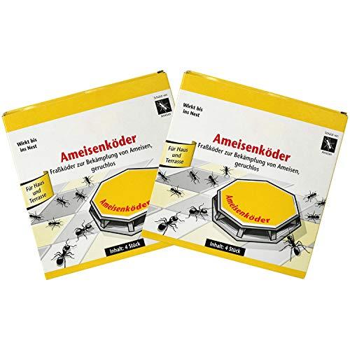 com-four® 8X Ameisenköder-Dosen, zur zuverlässigen Ameisenbekämpfung (08 Stück - Ameisenköder)